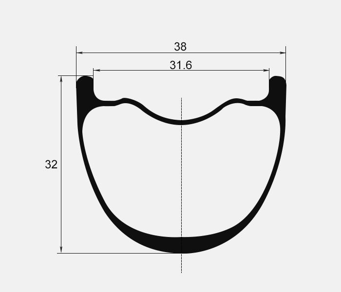 MTB carbon rim profile